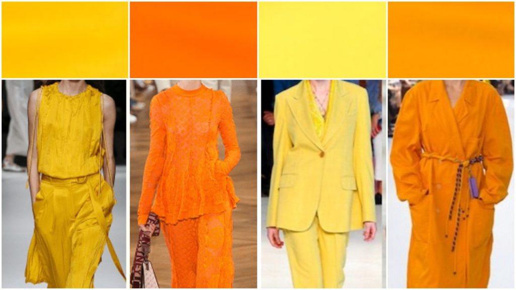 Amarillos y naranja Colores de moda verano 2020 Argentina