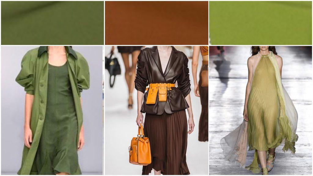 Marrones y verdes Colores de moda verano 2020 Argentina