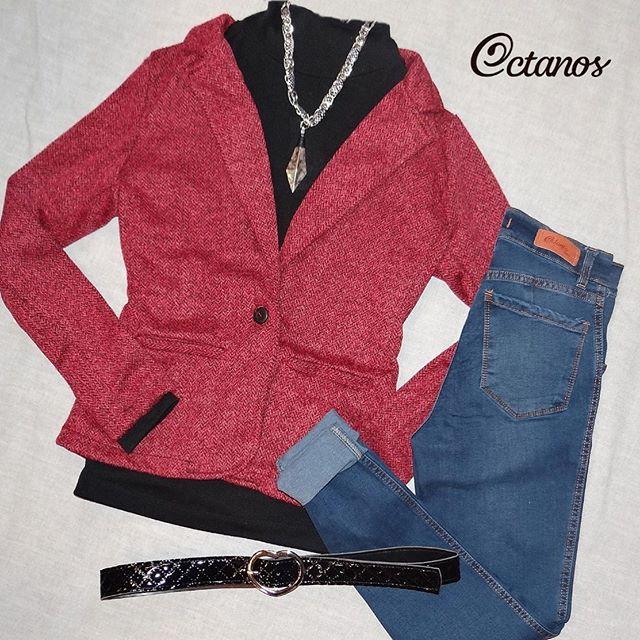 Octanos Jeans con polera y blazer juvenil invierno 2019