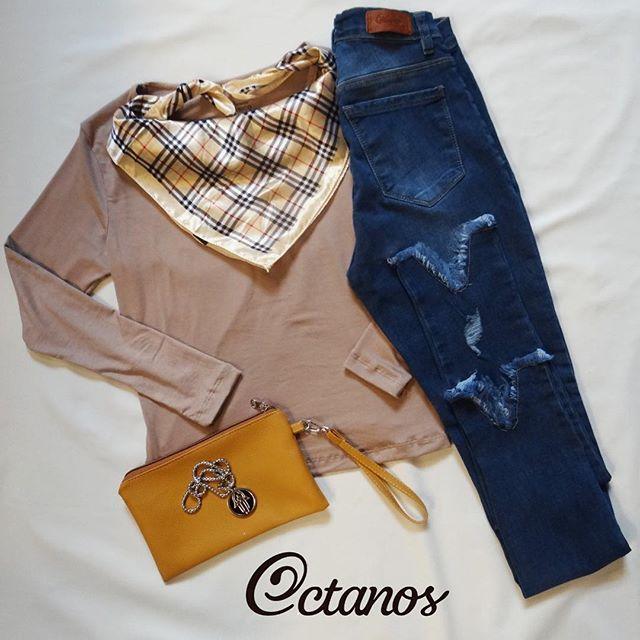 Octanos Jeans mujer look informal invierno 2019