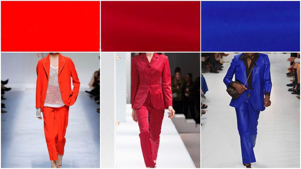 Rojo y azules Colores de moda verano 2020 Argentina