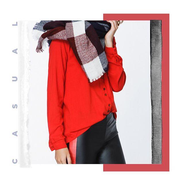 calza engomada y camisa roja Tibetano invierno 2019