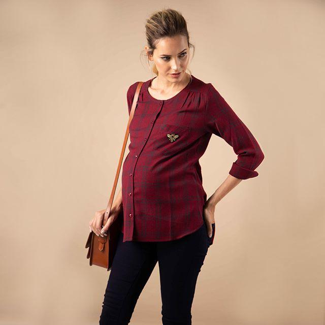 camisa a cuadros para embarazadas maa