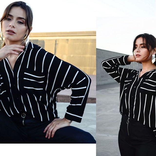 camisa a rayas mujer AG store invierno 2019