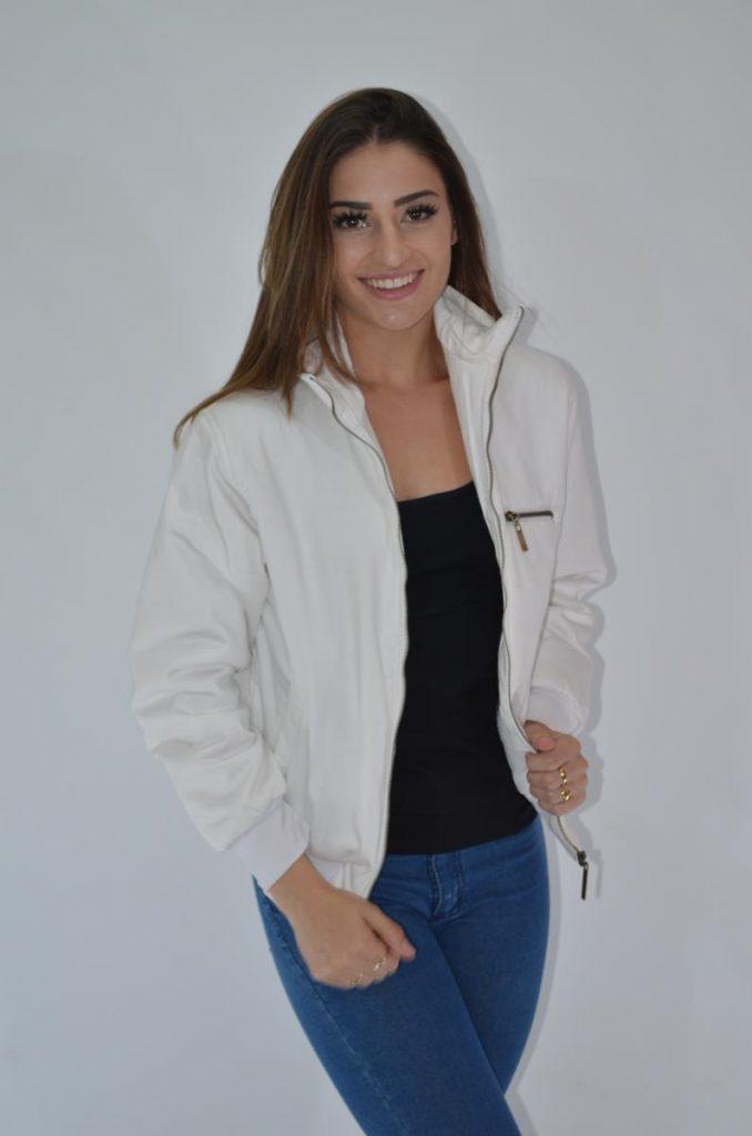 campera mujer con jeans Coco rayado invierno 2019