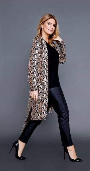 cardigan largo animal print Chatelet invierno 2019