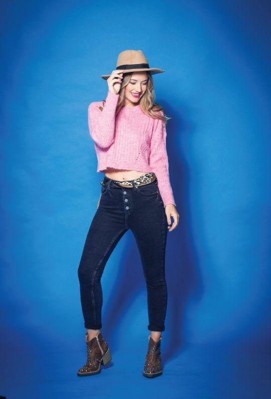 chupin azul y reme rosa Tabatha Jeans invierno 2019