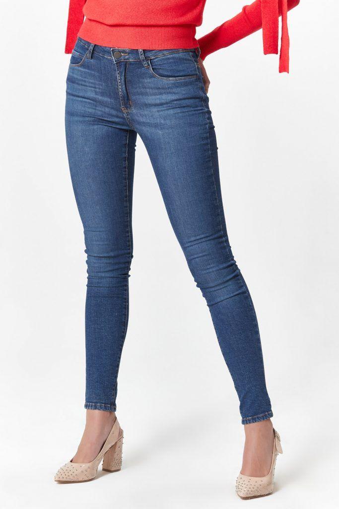 jeans chupin clasico las oreiro invierno 2019