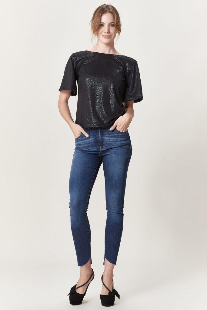 jeans chupin con ruedo rustico las oreiro invierno 2019