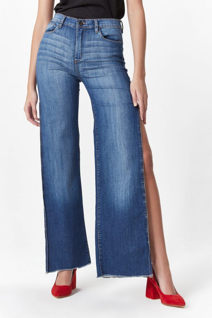 jeans oxford con tajo las oreiro invierno 2019