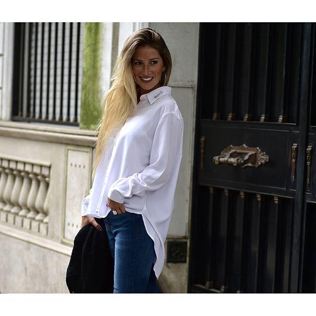 look casual con camisa mujer juvenil Oassian invierno 2019