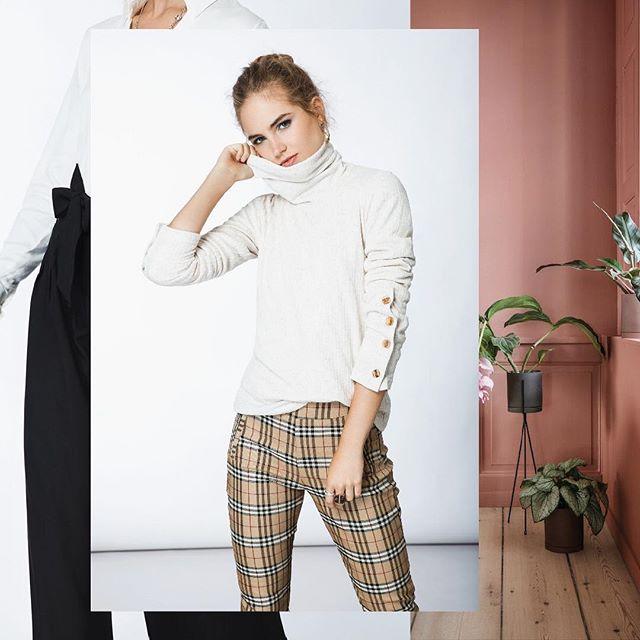 look casual con pantalon a cuadros mujer Tibetano invierno 2019
