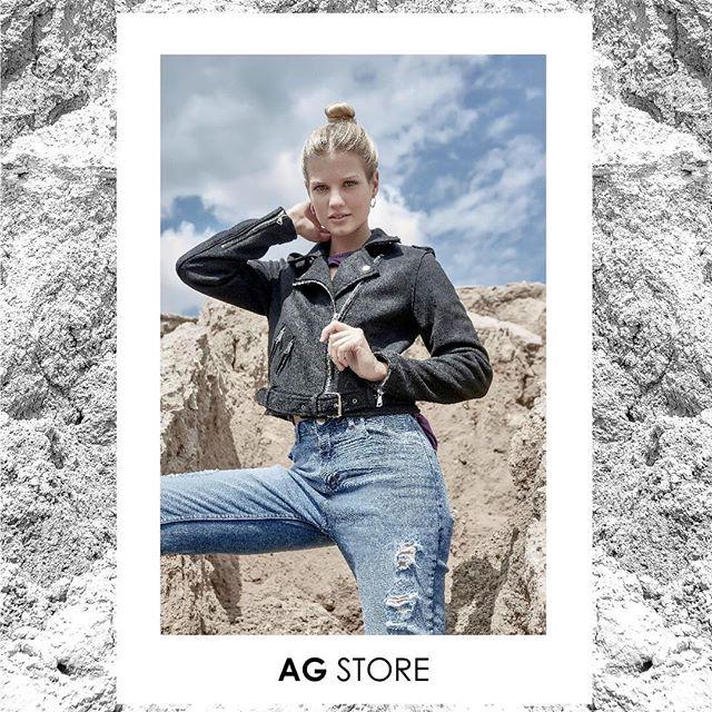 look con jeans rotos AG store invierno 2019