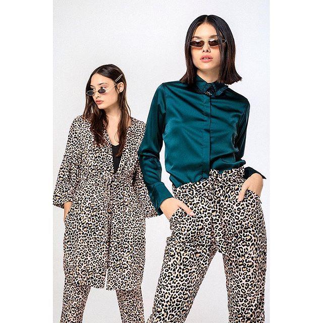 look con pantalones animal print Rie otoño invierno 2019