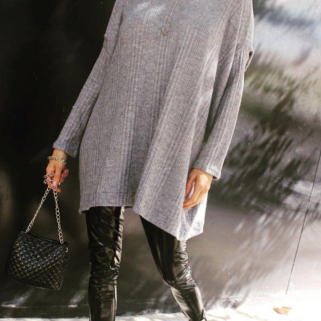 look con sweater largo Pura pampa invierno 2019