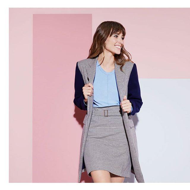look formal con blazer largo mujer Ted Bodin invierno 2019