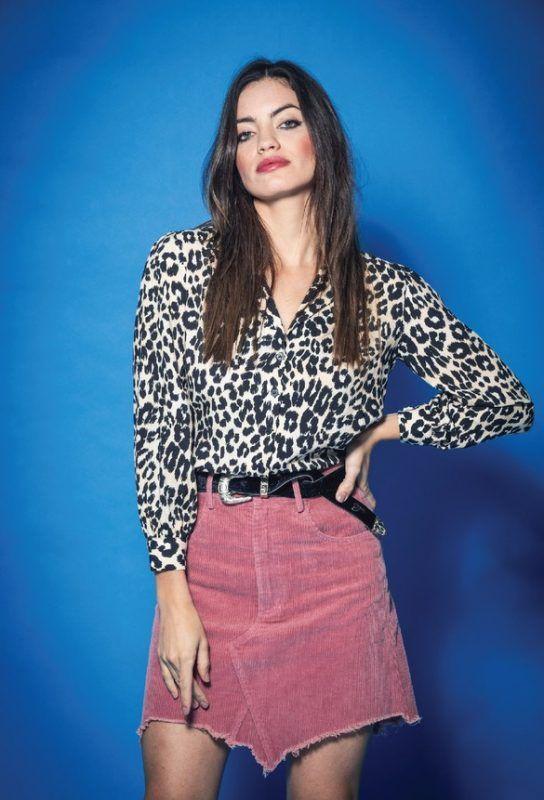 minifalda asimetrica rosa Tabatha Jeans invierno 2019