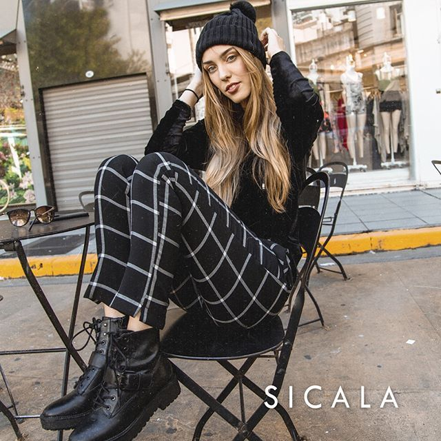 pantalon chupin a cuadro juvenil Sicala invierno 2019