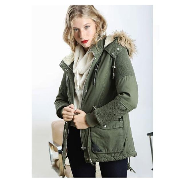parka camperon abrigo mujer cenizas invierno 2019
