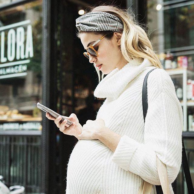 poleron tejido para embarazadas Maa Maternity invierno 2019
