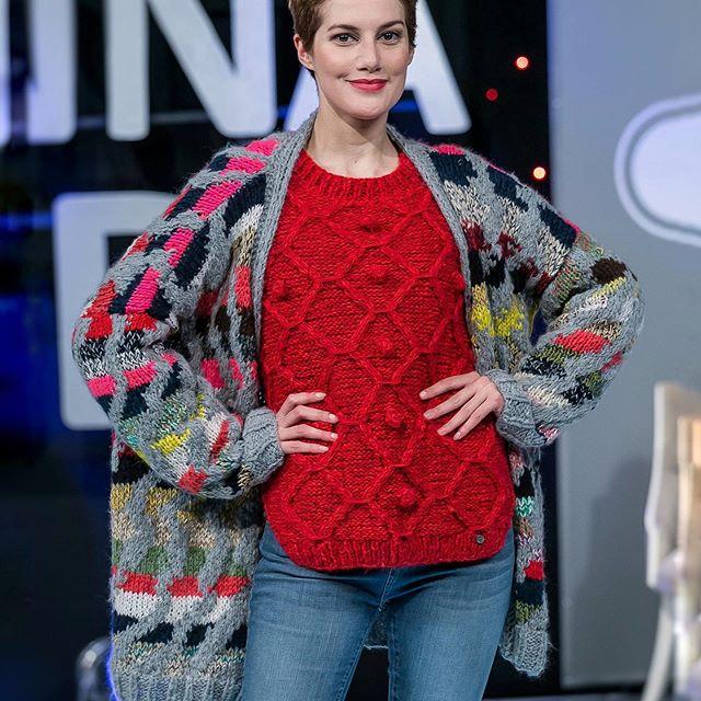 saco colores y sweaters Florencia Llompart tejidos invierno 2019