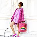 saco rosa mujer Florencia Llompart tejidos invierno 2019