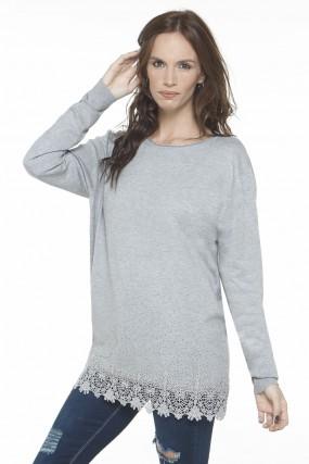sweater con puntilla Nuss tejidos invierno 2019