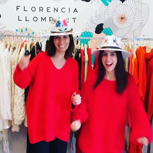 sweaters rojos Florencia Llompart tejidos invierno 2019