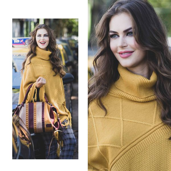 tejido poncho polera mujer Chatelet invierno 2019