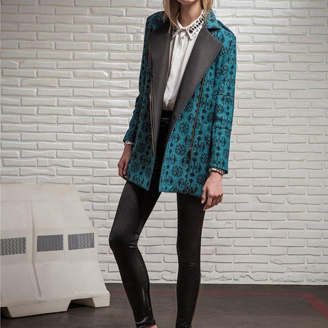 blazer abrigado mujer square jeans invierno 2019