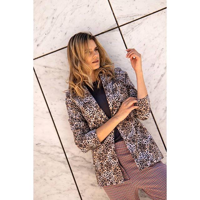 blazer animal print Benjamina invierno 2019 1