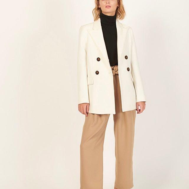 blazer blanco mujer Mancini invierno 2019