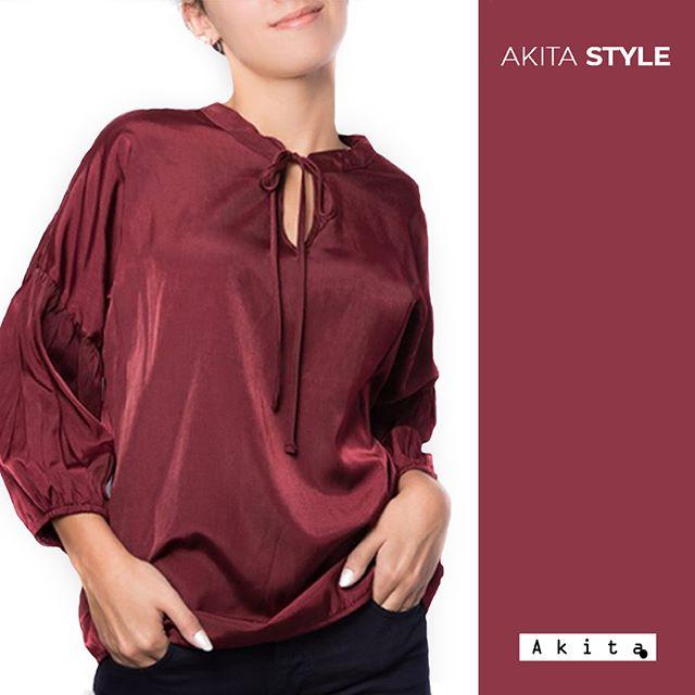 blusa seda mangas largas juvenil Akita invierno 2019