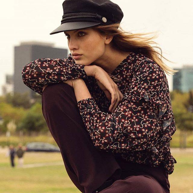 boina con vicera look urbano mujer Compañia de sombreros invierno 2019