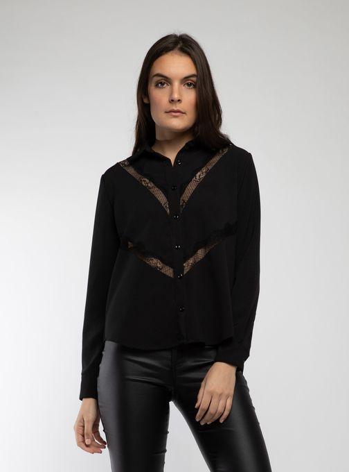 camisa con recotes en puntilla legacy mujer invierno 2019