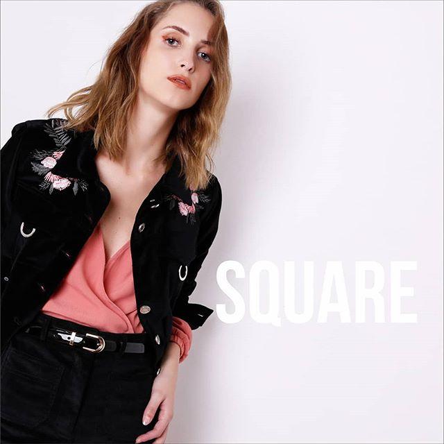 campera bordada square jeans invierno 2019