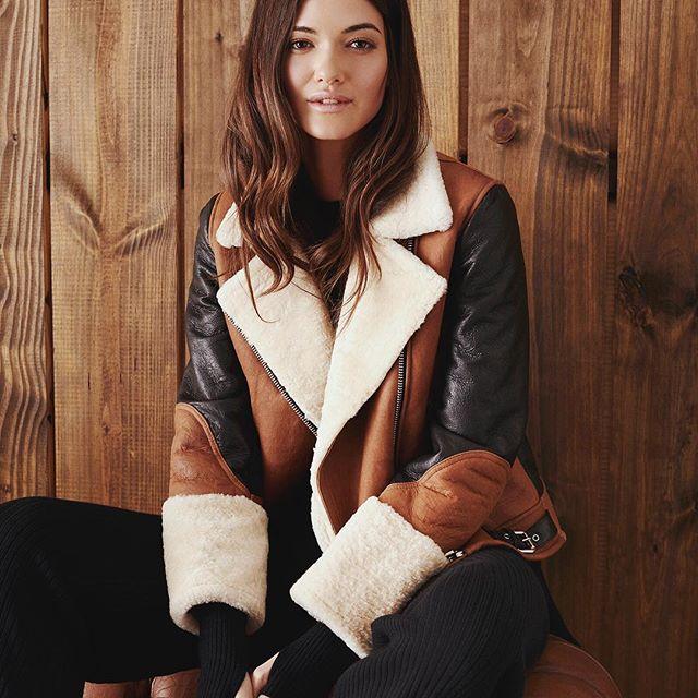 campera de cuero y corderito mujer Paula Cahen D Anvers invierno 2019