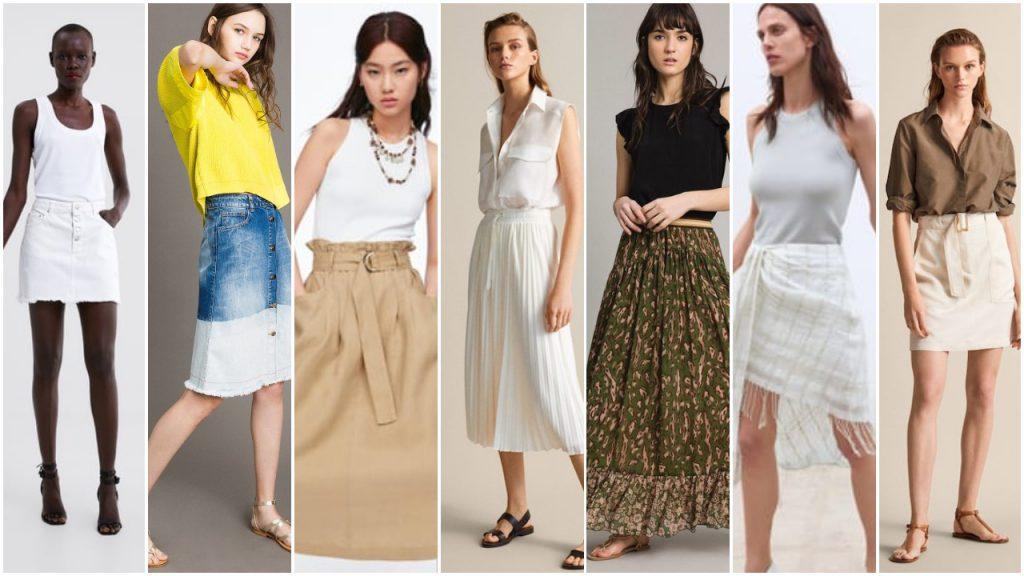 faldas largas y minifaldas de moda verano 2020 Tendencias argentina