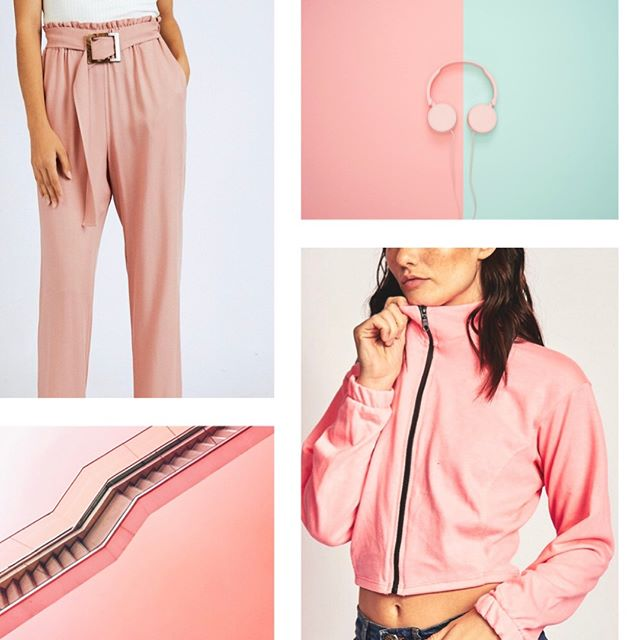 palazzos y camperas top rosadas Naif invierno 2019
