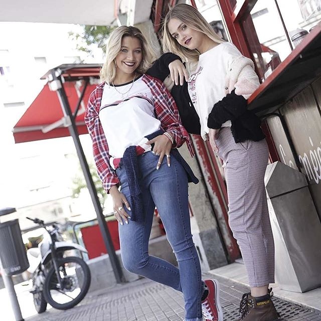pantalon jeans o cargo look casual Doll Fins invierno 2019