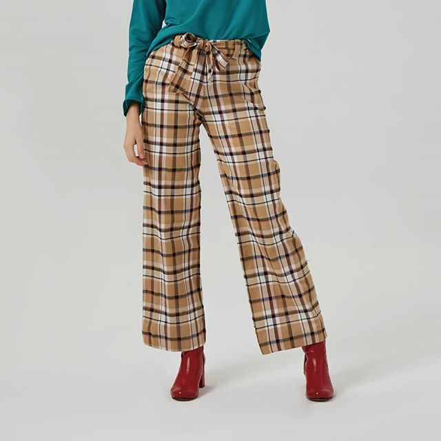 pantalones a cuadros mujer Abstracta invierno 2019