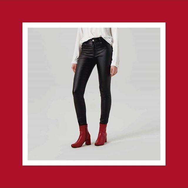 pantalones de cuero mujer Abstracta invierno 2019