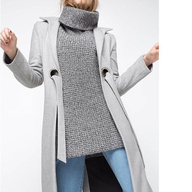 tapado largo mujer square jeans invierno 2019