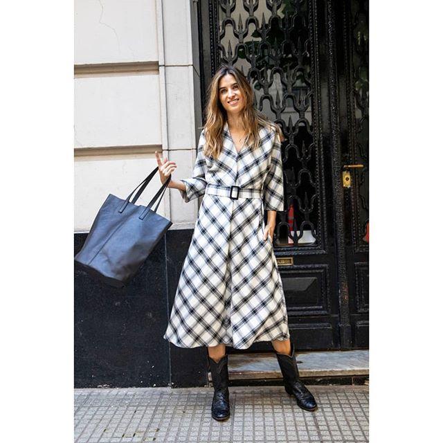 vestido a cuadros Benjamina invierno 2019