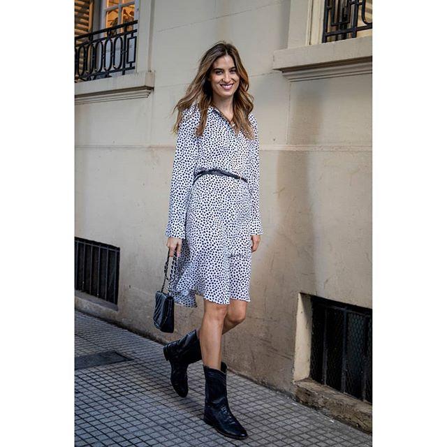 vestido corto urbano animal print Benjamina invierno 2019