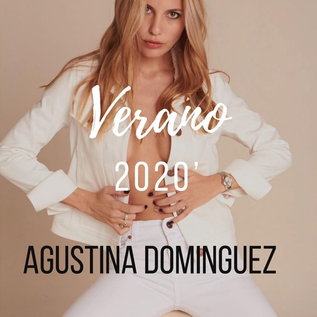Agustina Dominguez Look total White verano 2020