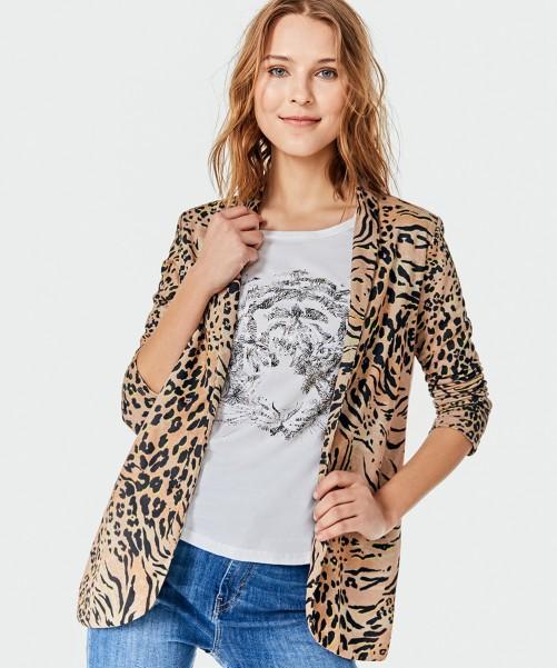 blazer animal print kosiuko primavera verano 2020