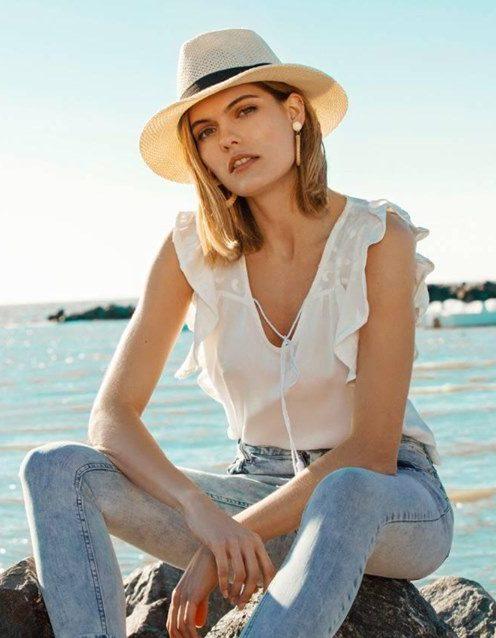 blusa y jeans buryak primavera verano 2020