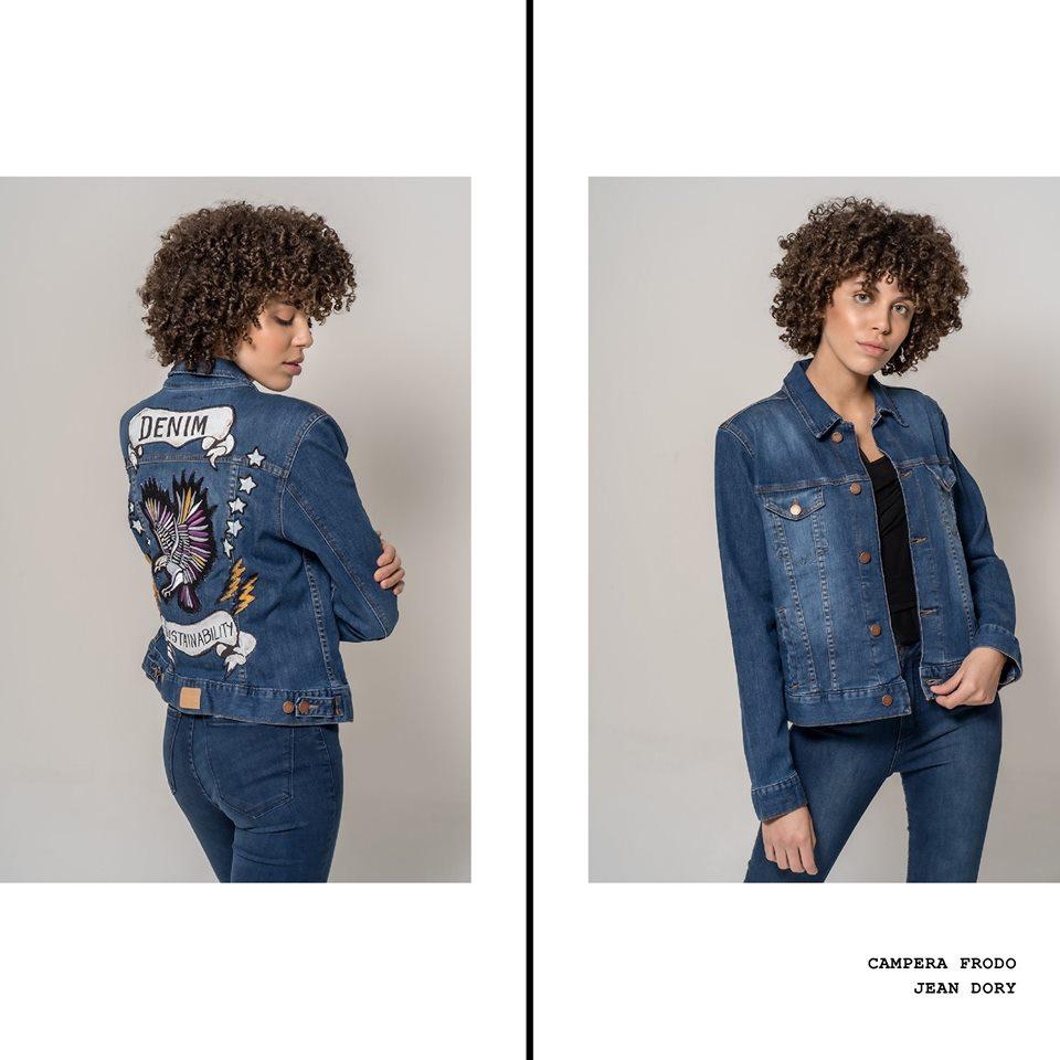campera jeans bordada La cofradia verano 2020