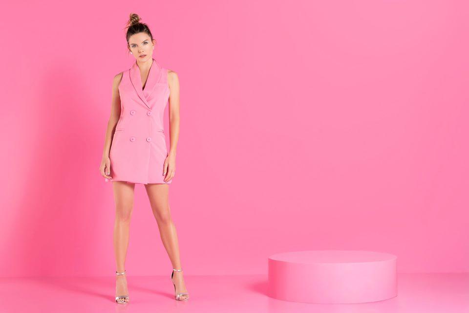 chaleco sastrero juvenil mujer rosa caviar verano 2020